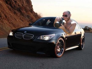 Aron Norman we know you love shooting, but be careful with your BMW-M5!!