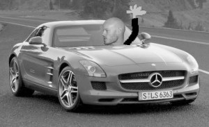 Curtis in His Mercedes SLS AMG Gullwing